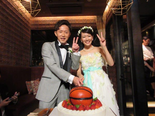 バスケット 結婚式 ケーキ