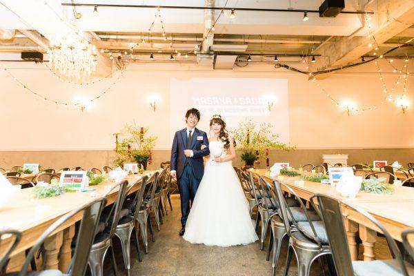 結婚式1.5次会 新郎新婦