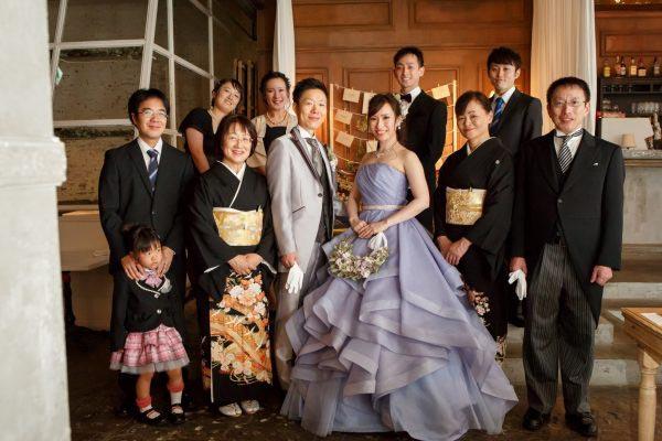 結婚式 家族写真